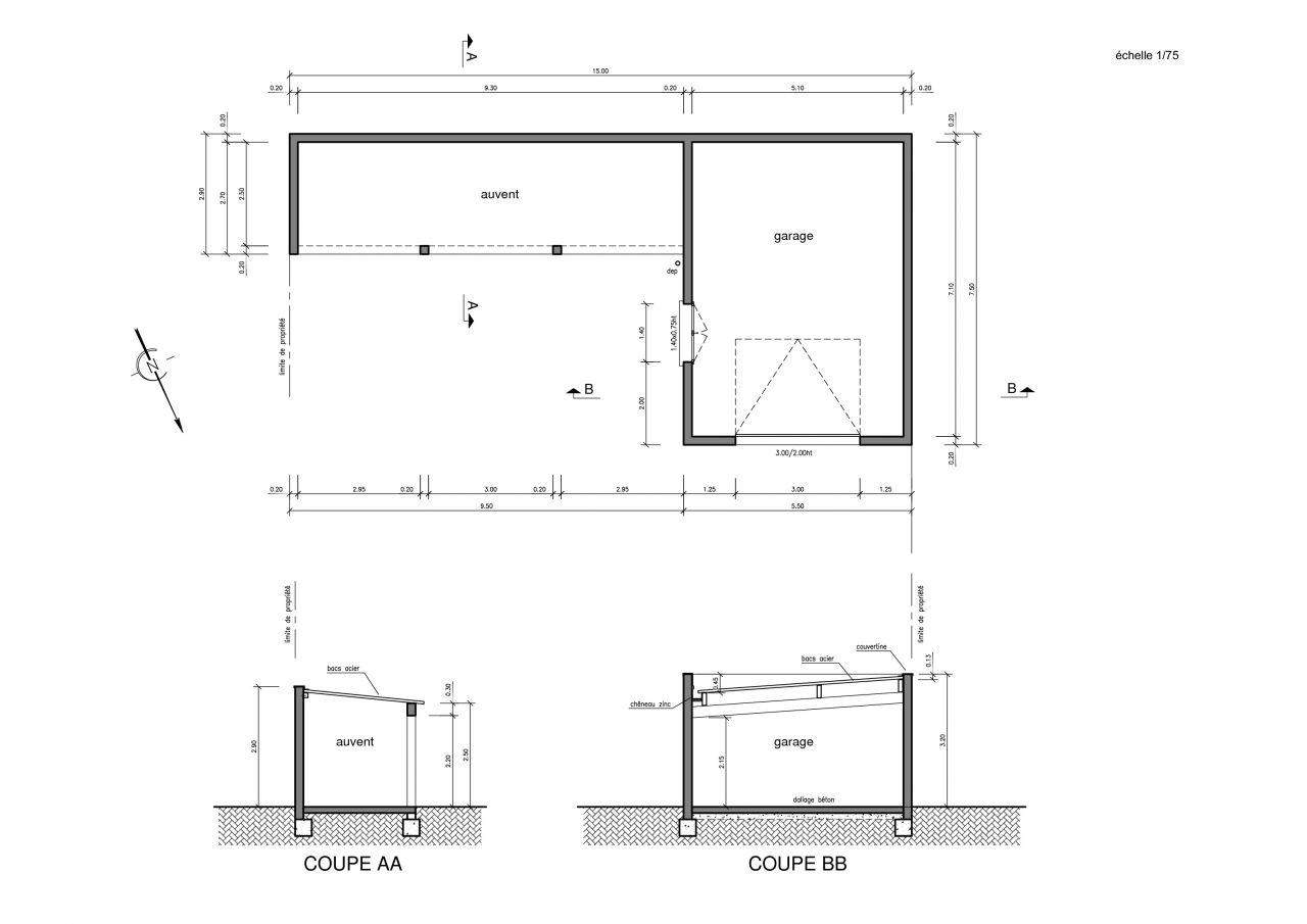 Plan Pour Construire Un Auvent En Bois besoin aide pour plan charpente garage bac acier - 13 messages