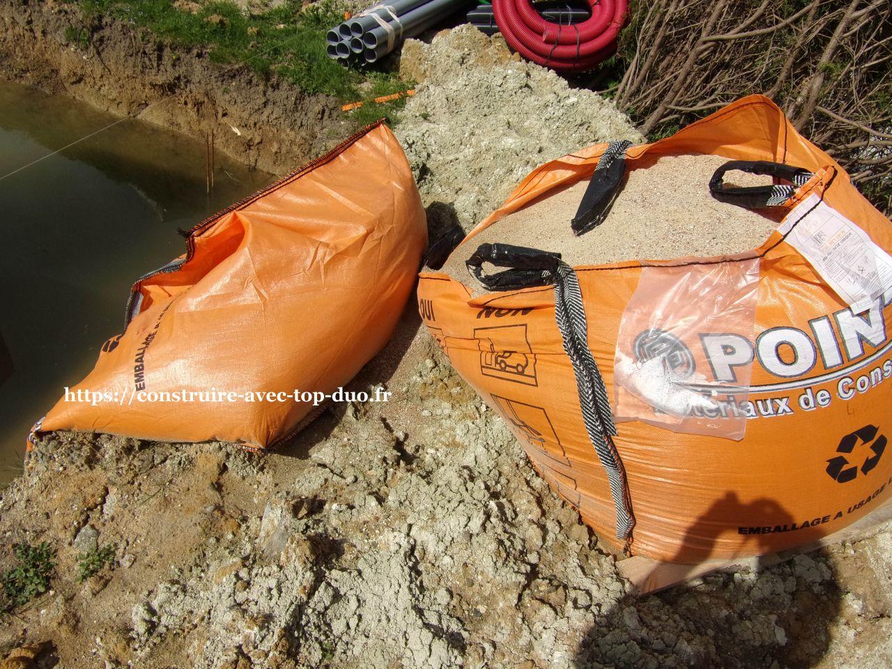 Chantier TOP DUO AST sac de sable renversé