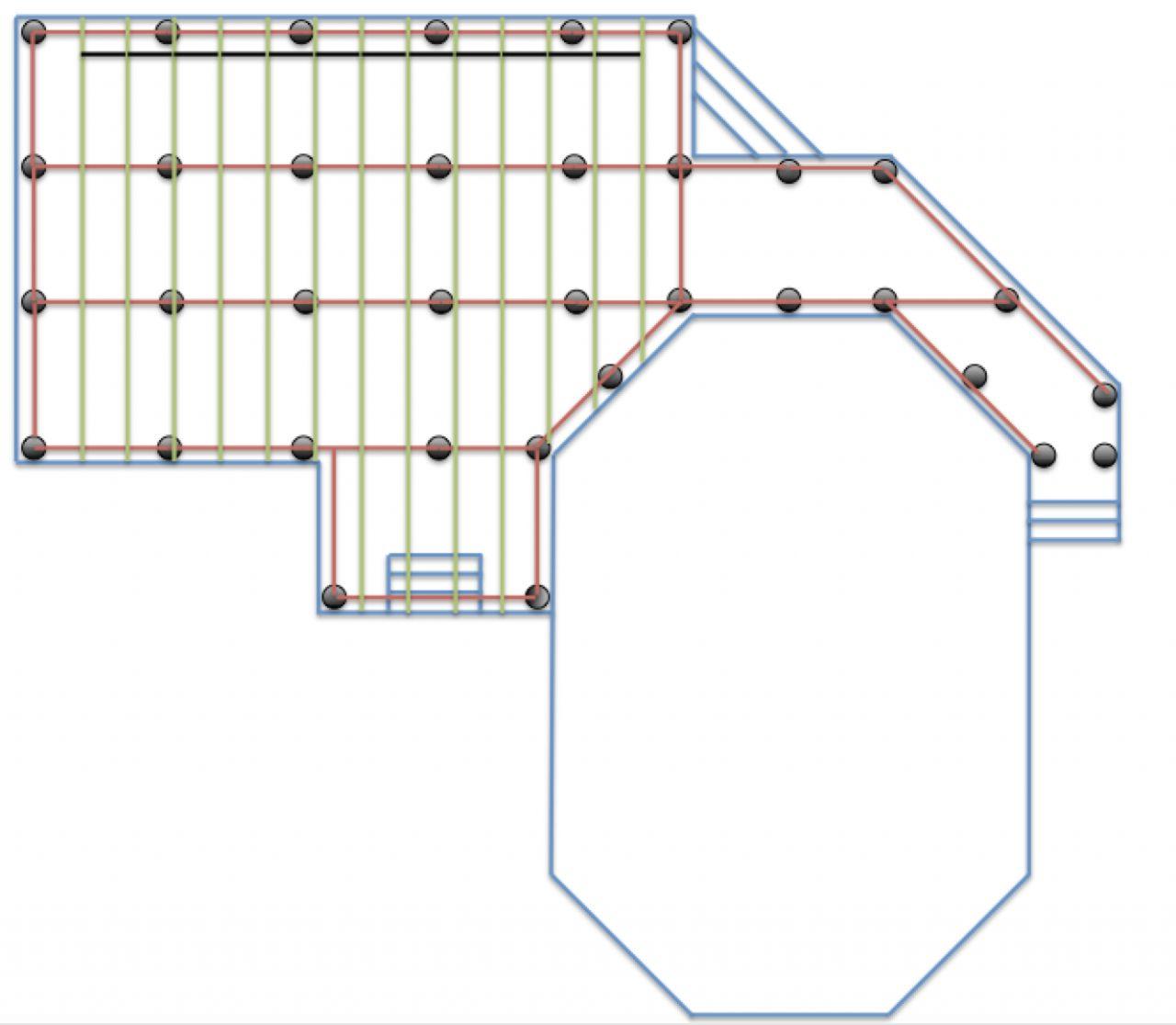 Début, ébauche de plans de la terrasse