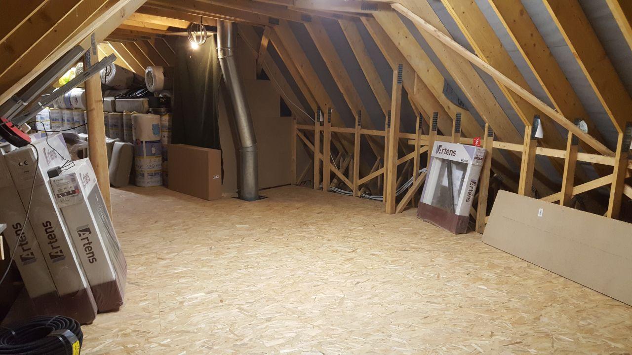 L'autre partie du plancher bois finit