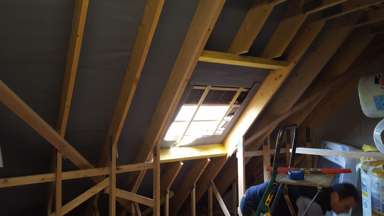 Chevêtre pour accueillir une fenêtre 114x118