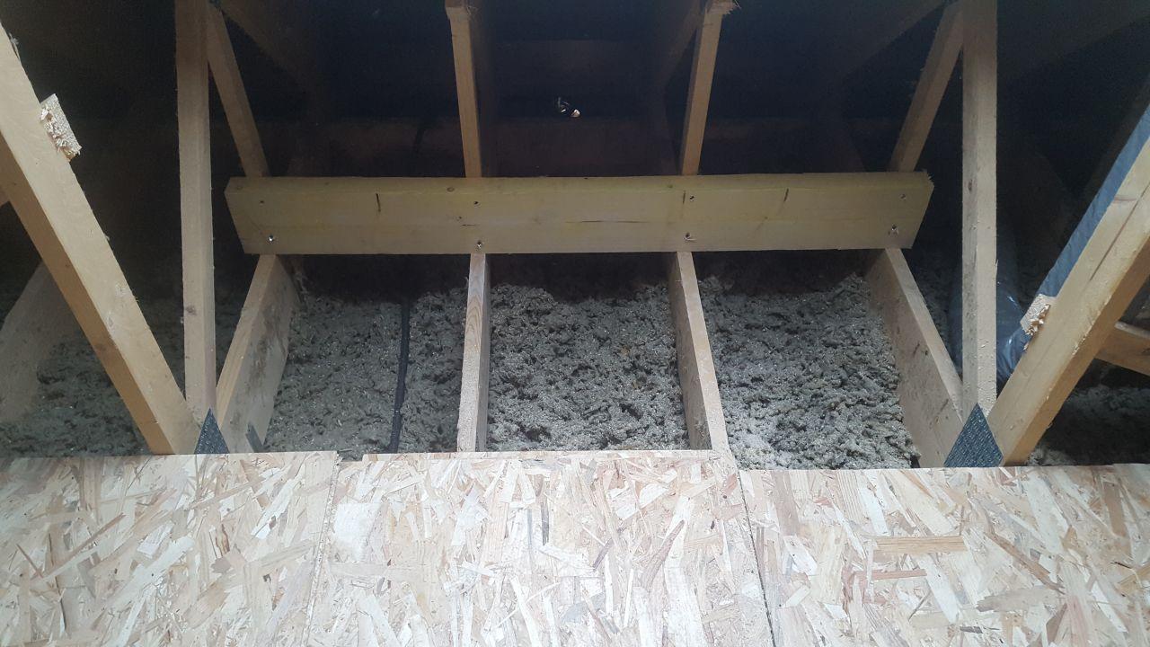 Renfort en bas sur fermette pour chevêtre 114x118