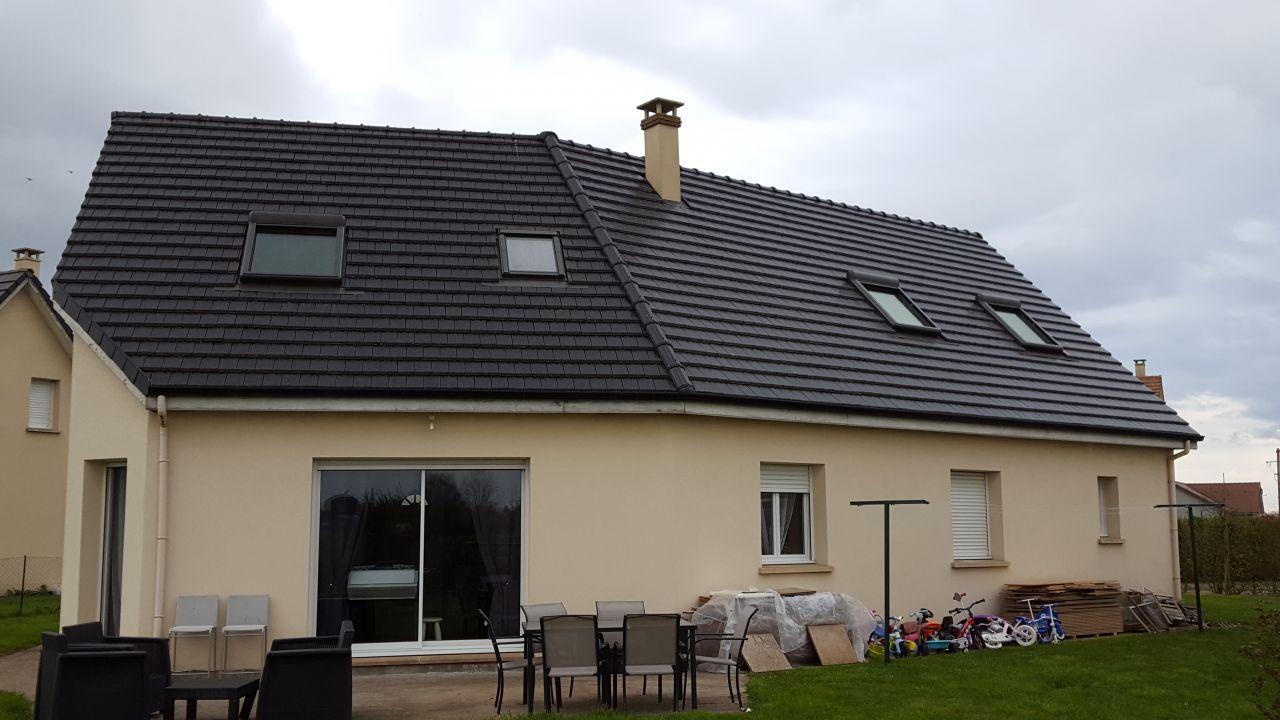 Vue des Fenêtres de toit plein SUD avec leurs volets roulant électrique