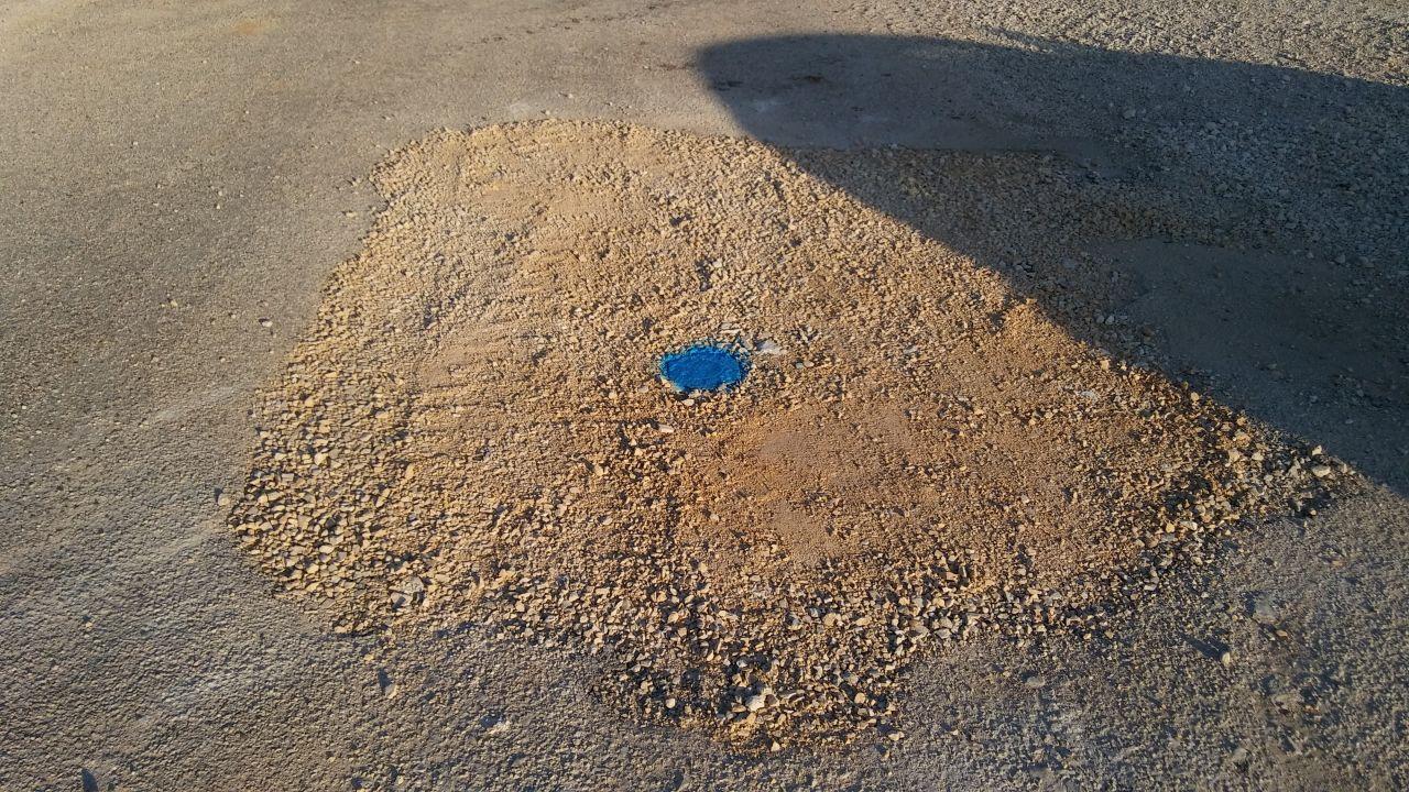 réparation conduit d'arrivée d'eau vers notre terrain (bouche à clé)