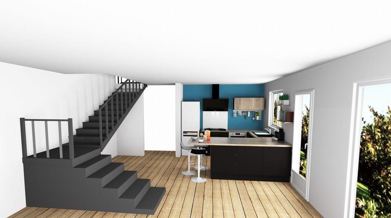 vue  <br /> 3D cuisine