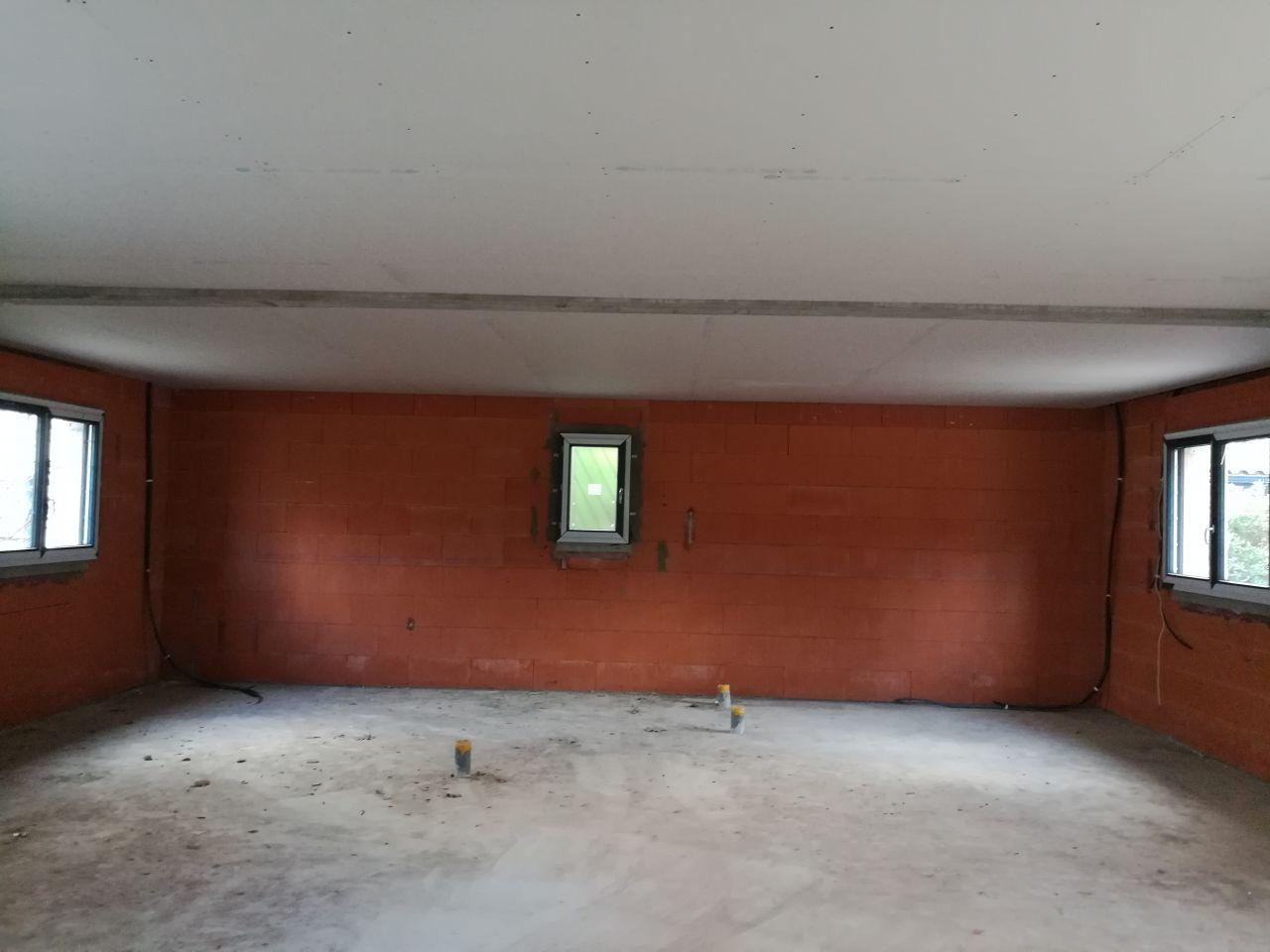 Pose du plaquo au plafond