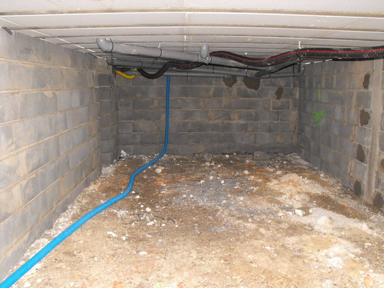 intérieur du vide sanitaire