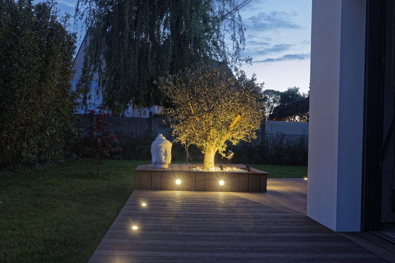 éclairage terrasse de nuit
