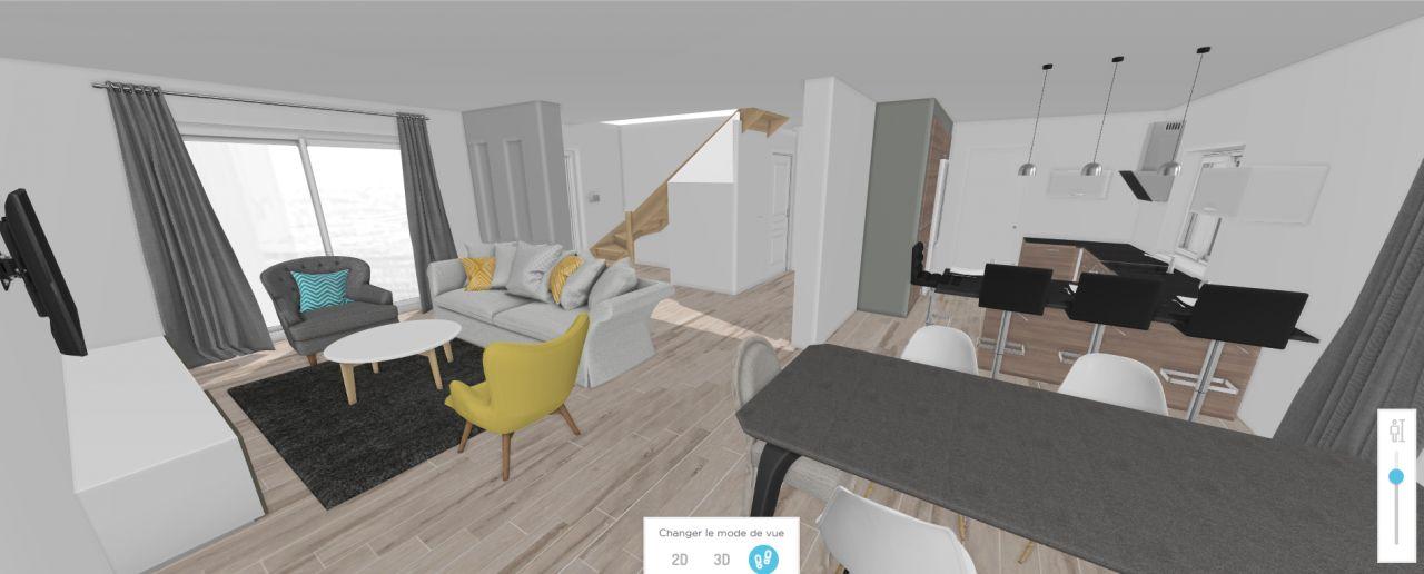 Premier essaie : séjour cuisine en 3D