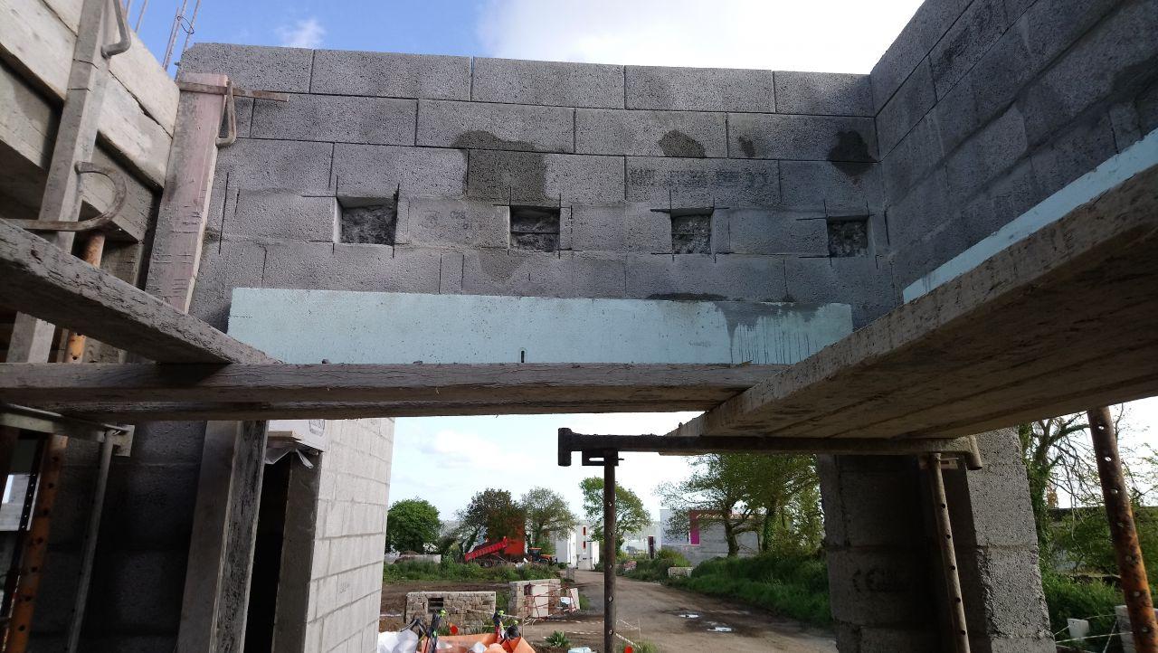 préparation de la dalle du toit terrasse