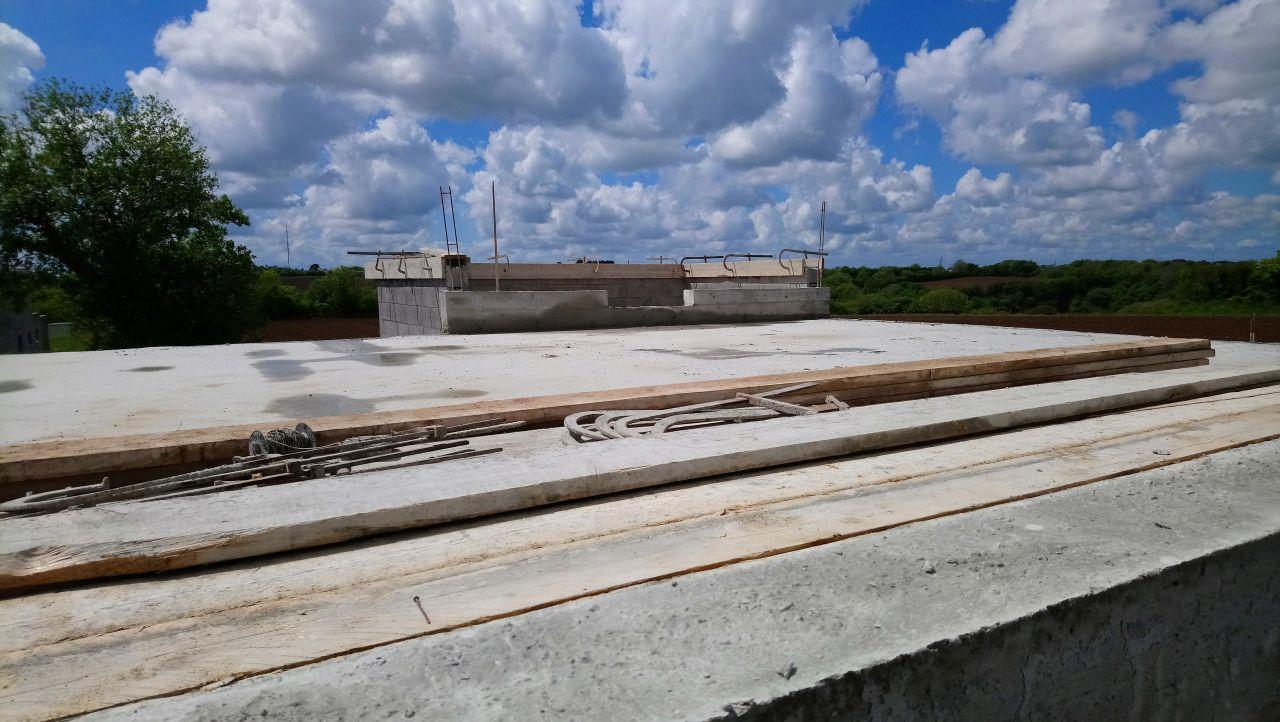 décoffrage poutre côté toit terrasse