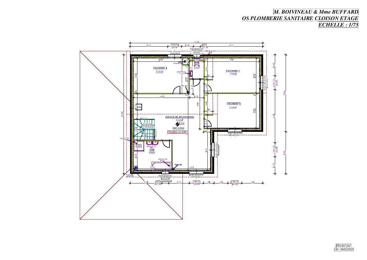 Plan final : Etage