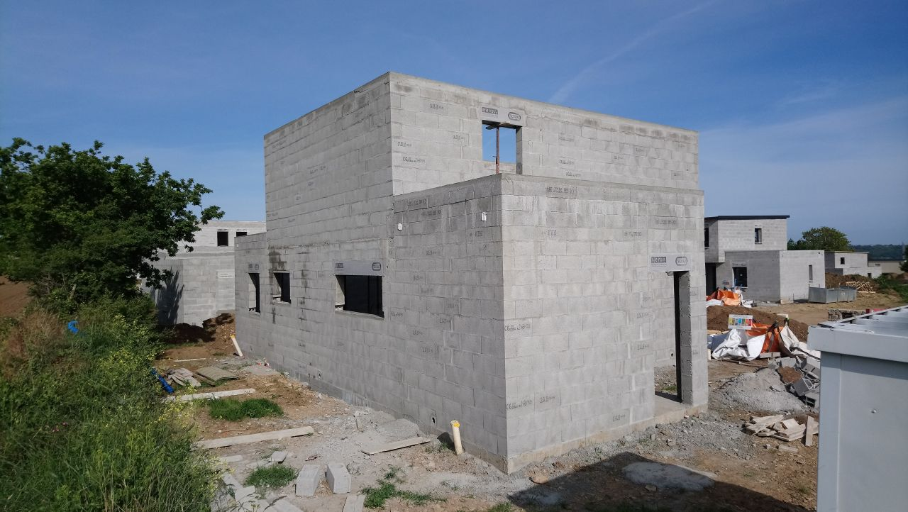 façade Nord/Ouest - maçonnerie terminée