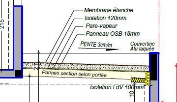 détail toit terrasse non accessible