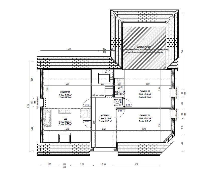 voici le plan de l'étage