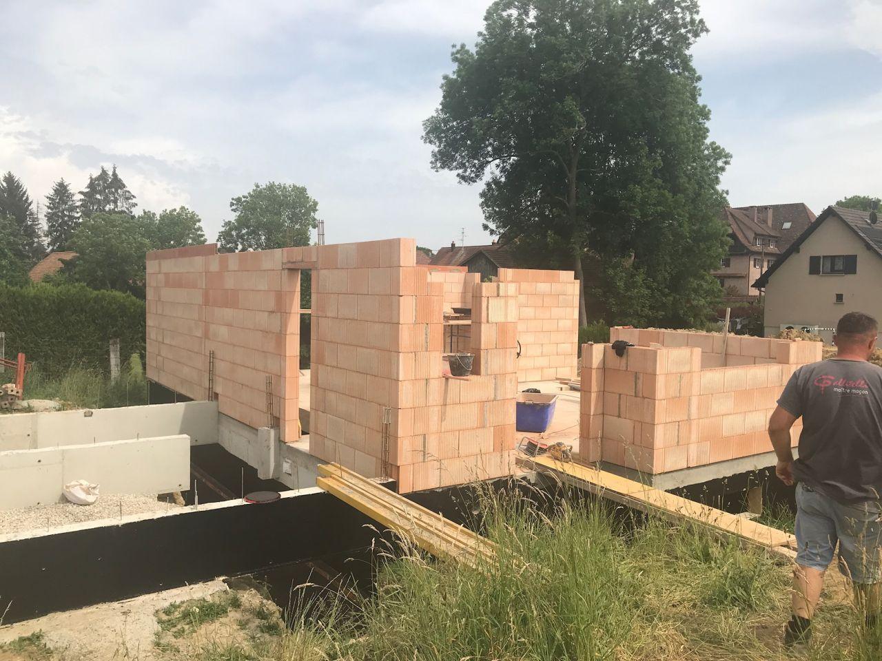 Elévation murs rdc suite