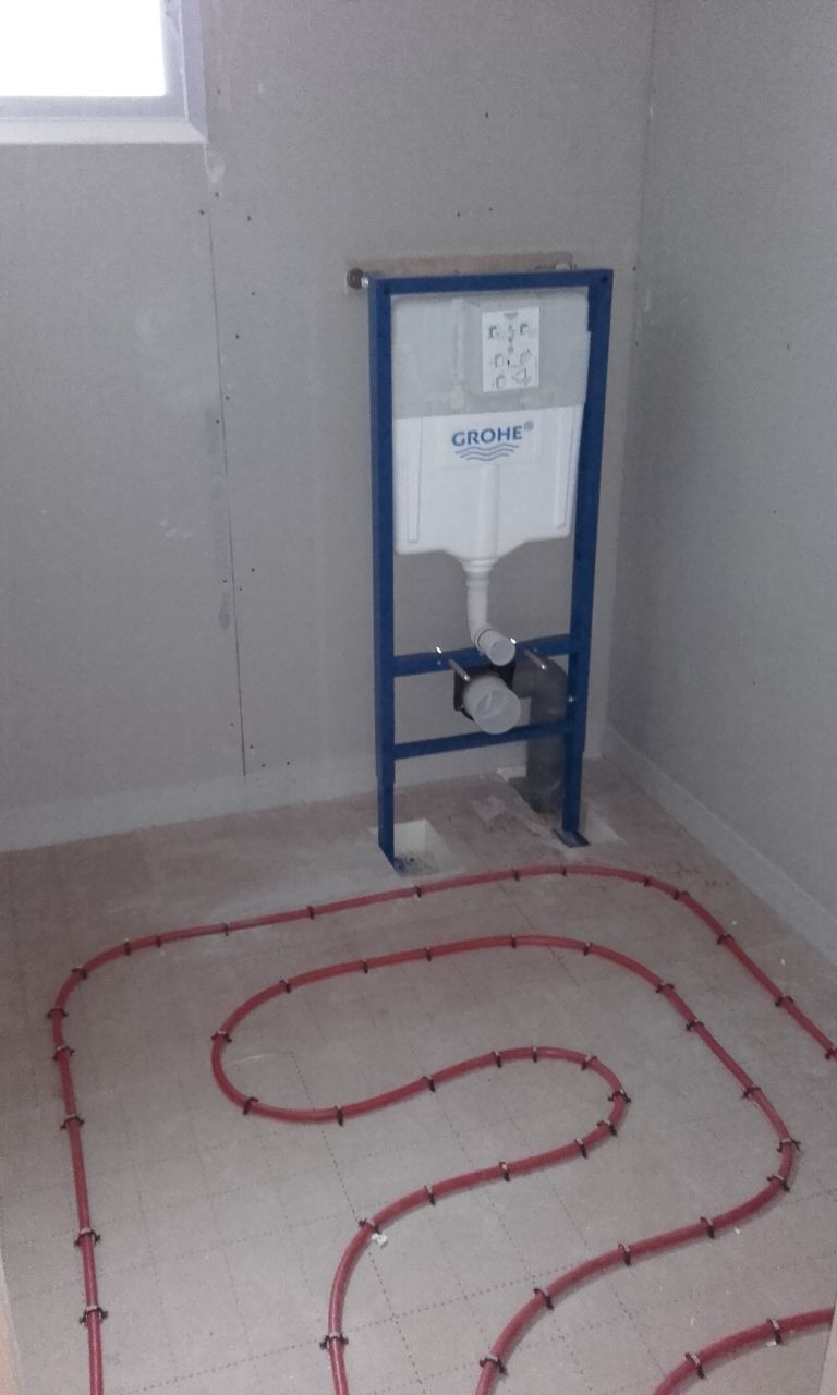Réseau chauffage toilette