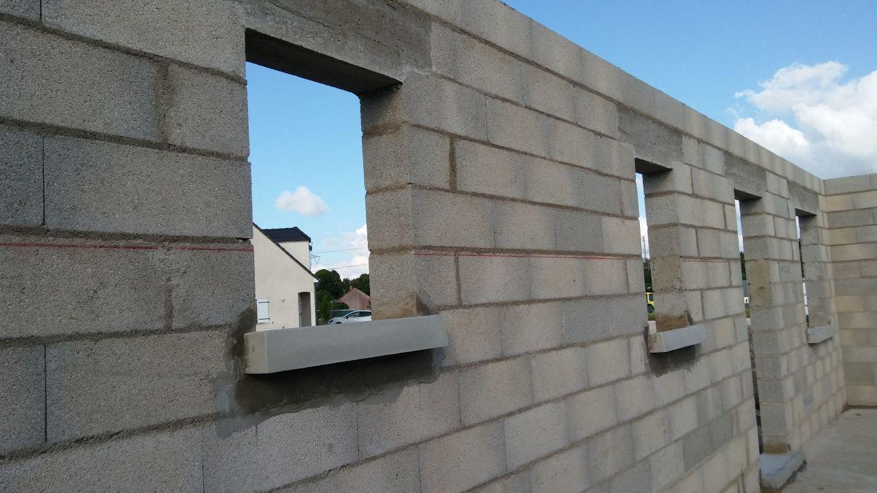 élévation de murs façade intérieur