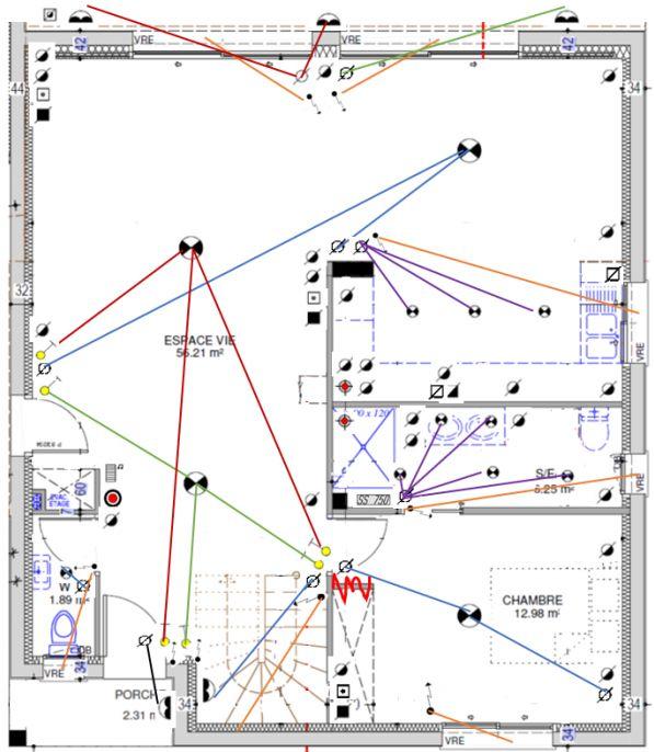 MAP - Plan électrique - RDC