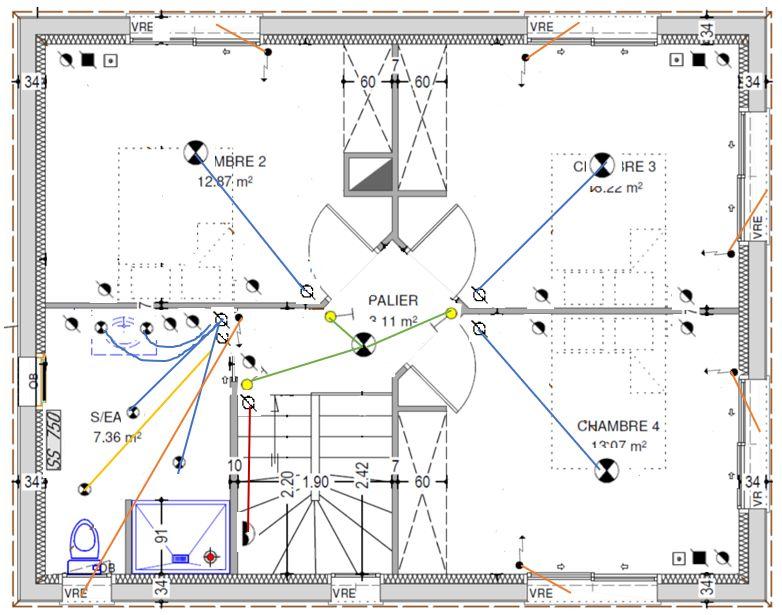 MAP - Plan électrique - Etage