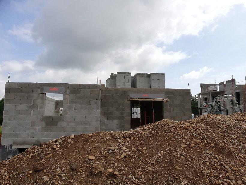 Préparation étage (façade sud)