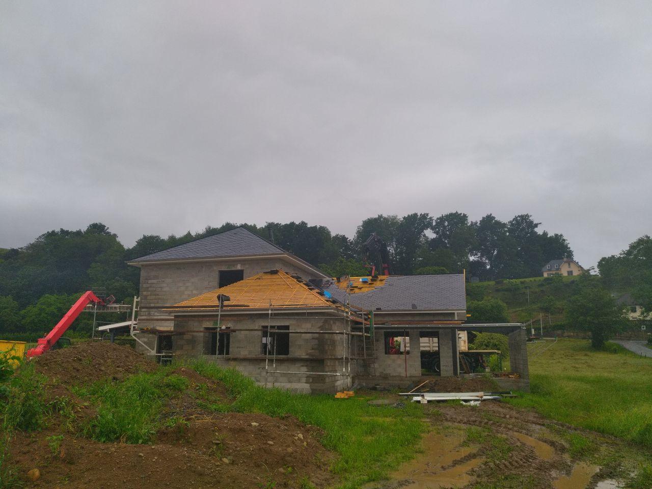 Couverture ardoise de l'habitation