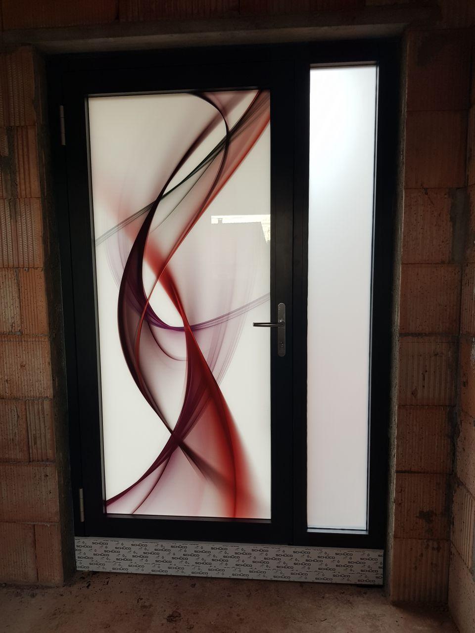 Porte d'entrée face intérieure