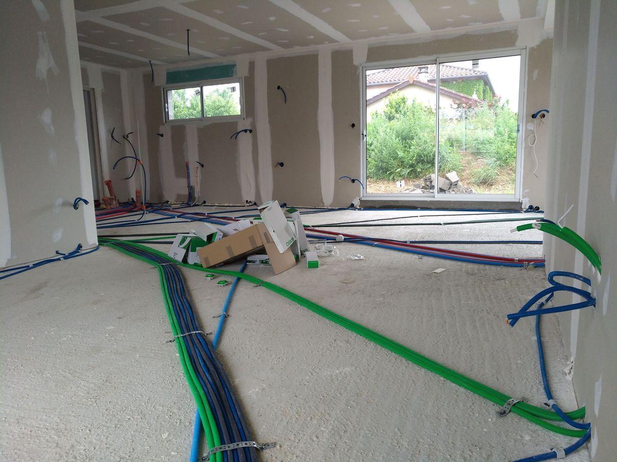 Câblages au sol