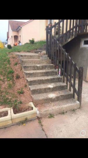 les escaliers lors de l'achat ( fallait se projeter)