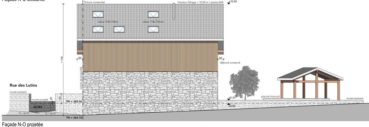 façade en limite de propriété