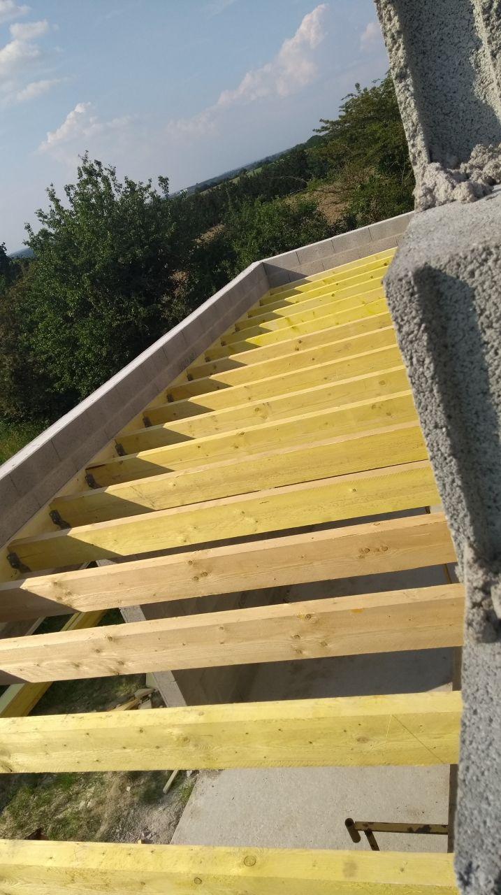 Charpente toit terrasse