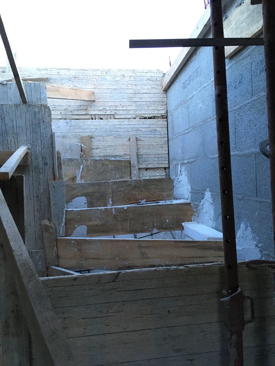 Coffrage escalier béton