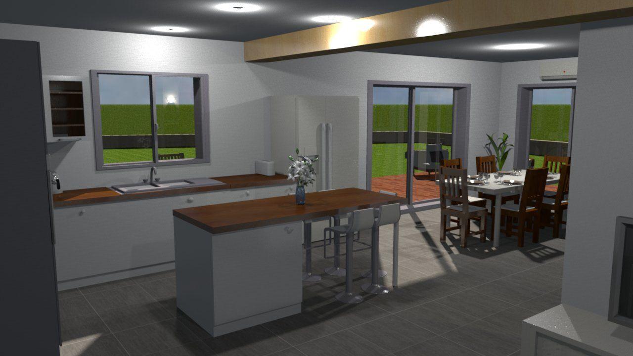 Vue 3D réalisée à l'aide de Sweet Home 3D
