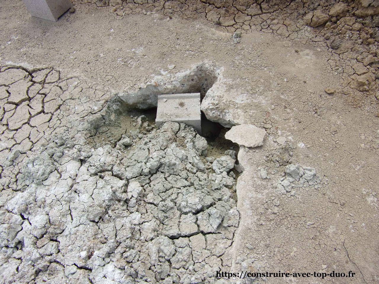 combler les trous dans les fondations