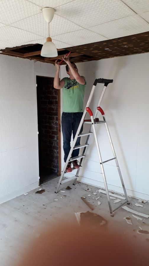 Démontage plafond suite parentale