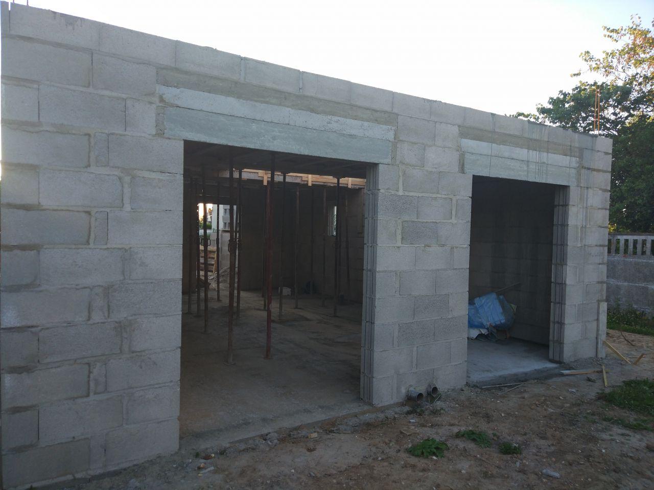 élévation des murs du RC vue de derrière
