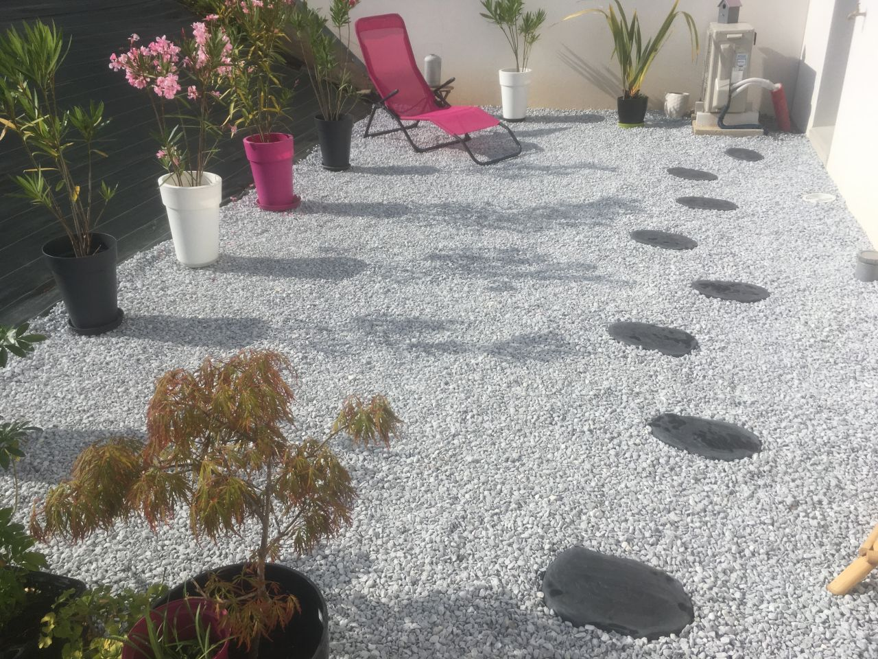 Terrasse de graviers