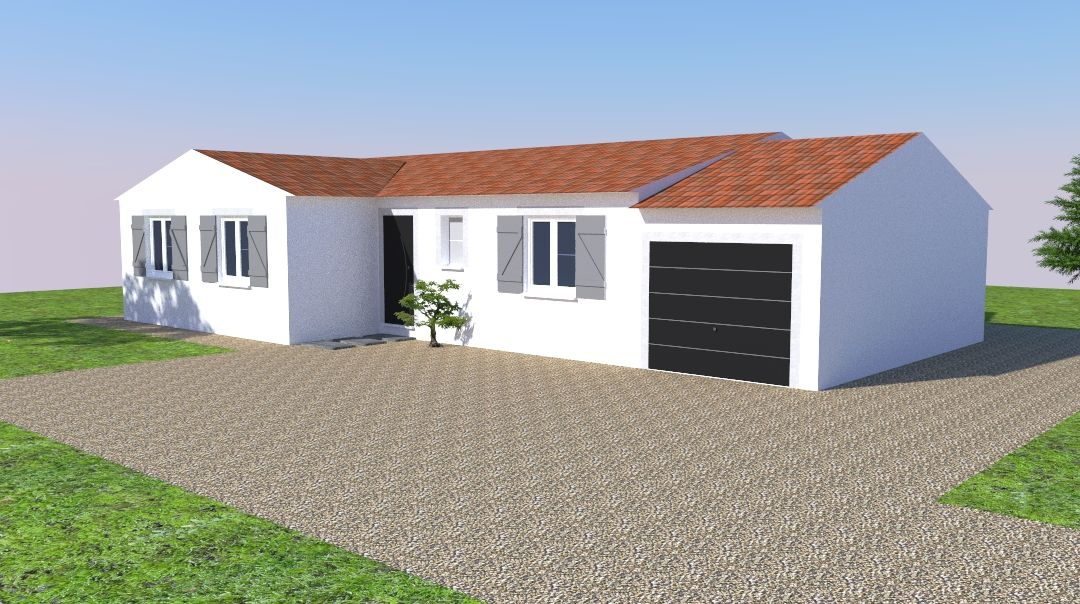 Vue 3D Sketchup - façade 1