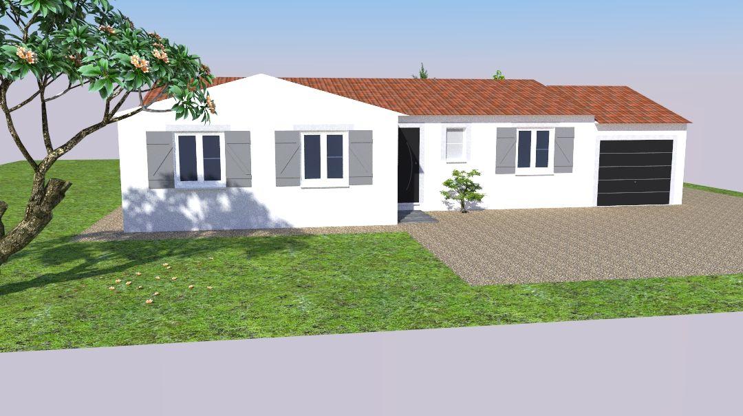 Vue 3D Sketchup - façade 2