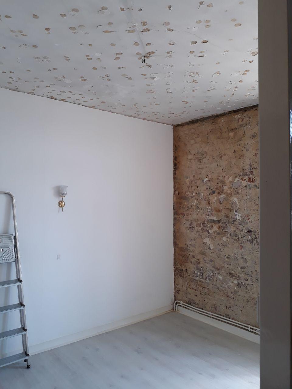 Chambre jardin mur humide démonté