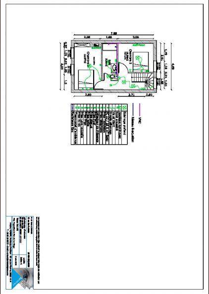 Plan 1ér étage, futur