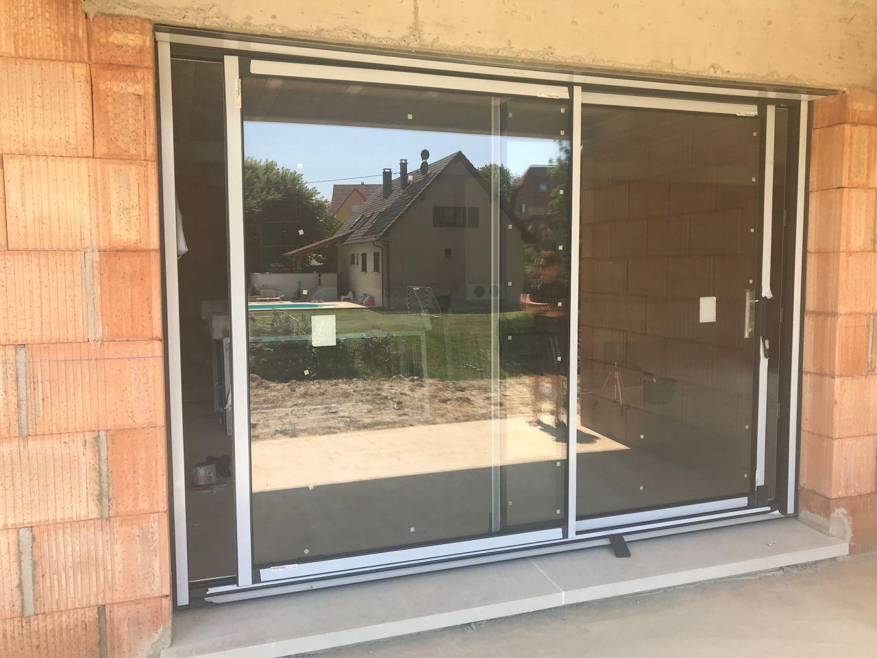 baie vitrée 3m salon