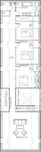 Plan sommaire de l'étage (mansardé)