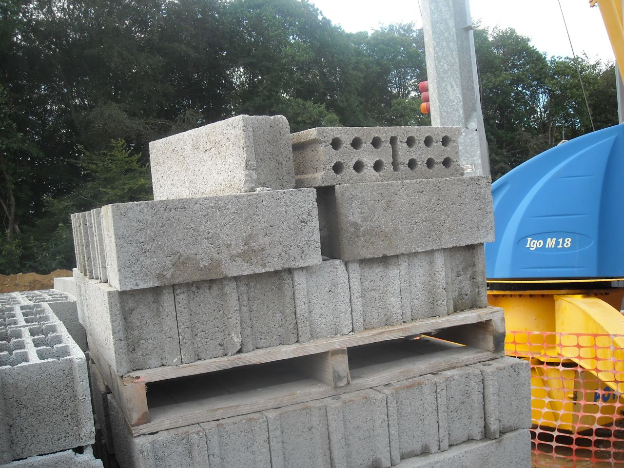 parpaing B80 pour le mur porteur