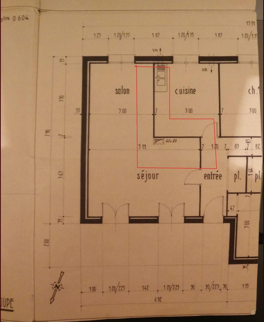 Plan coté gauche de la maison
