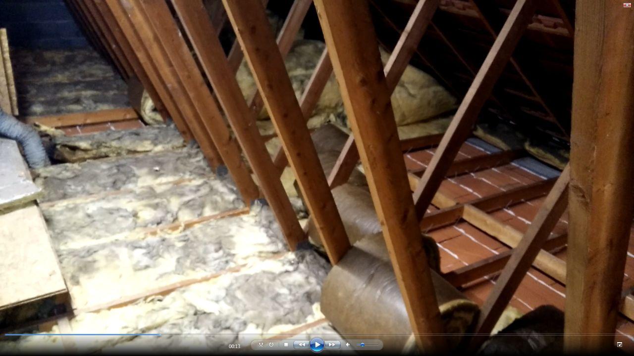 Charpente avec plafond suspendu