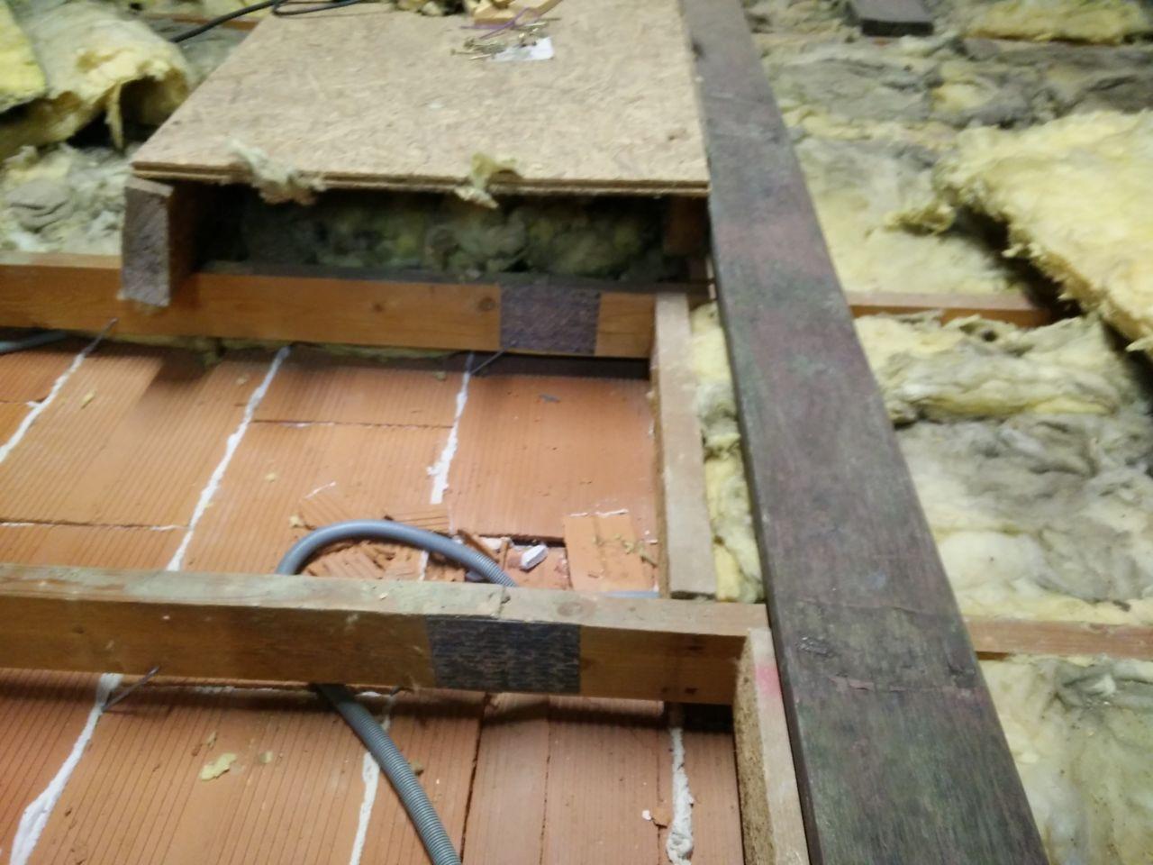 Etat des jonctions de fermettes apres demolition