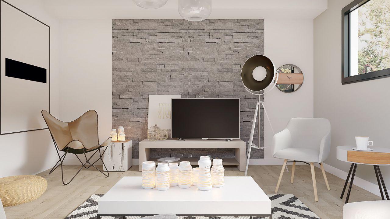 Projet Rhinov - Salon côté tv