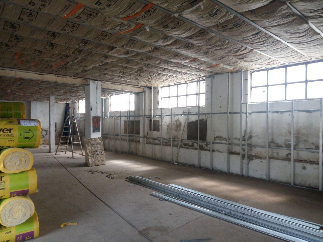 plafonds isolés côté chambres