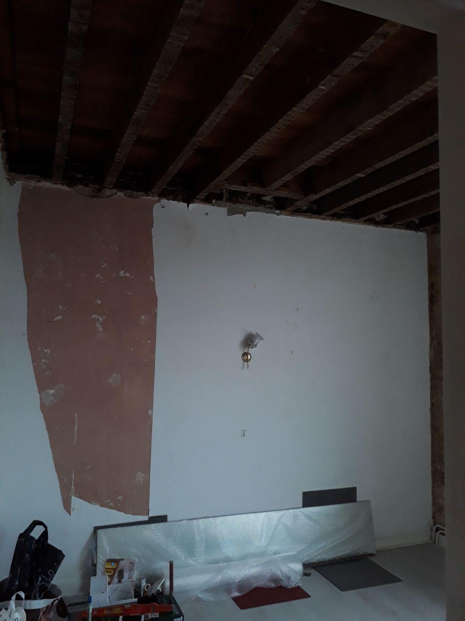 Plafond de la chambre du 1er coté jardin